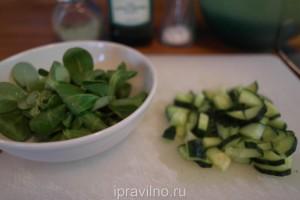 зеленый салат с капустой