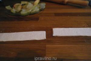 розочки из слоеного теста