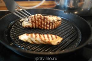 куриное филе в соевом соусе на гриле