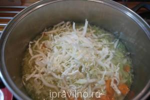 овощной суп с вешенками