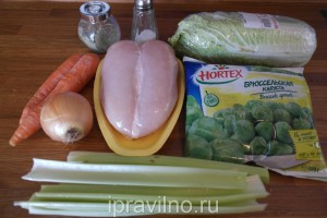 куриный суп с брюссельской капустой