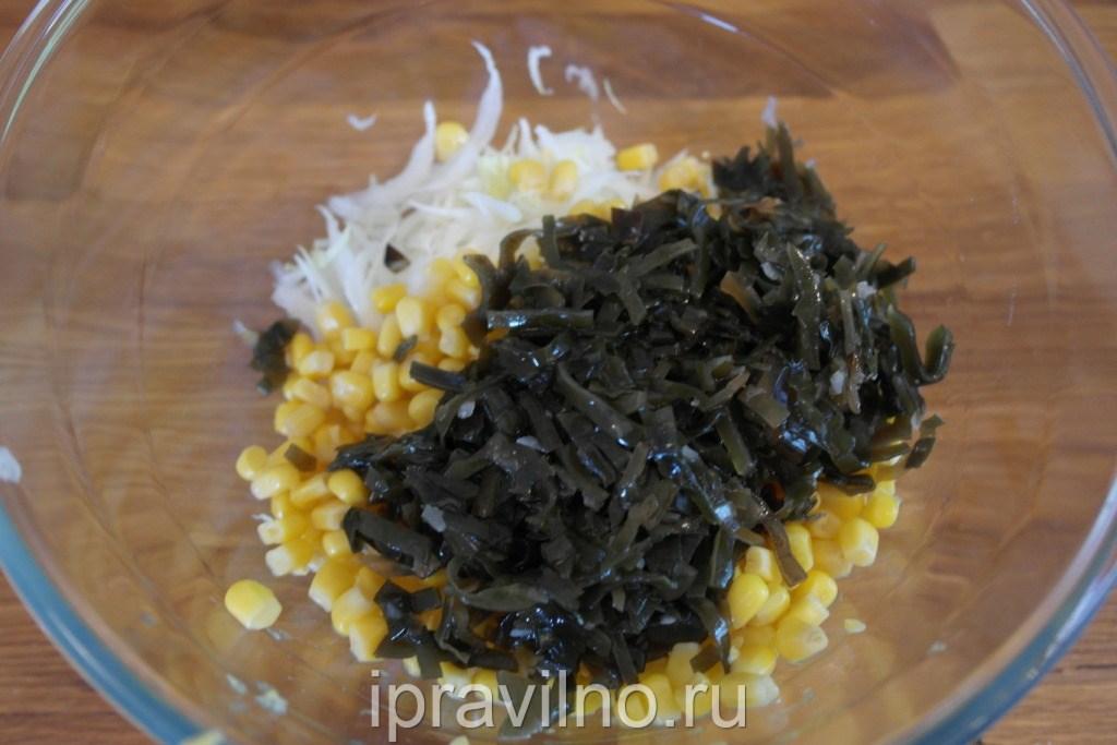 Салат из морской капусты с мясом рецепт с очень вкусный