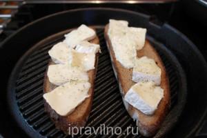 бутерброды с камамбером на гриле
