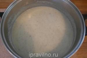 суп-пюре с шампиньонами и цветной капустой