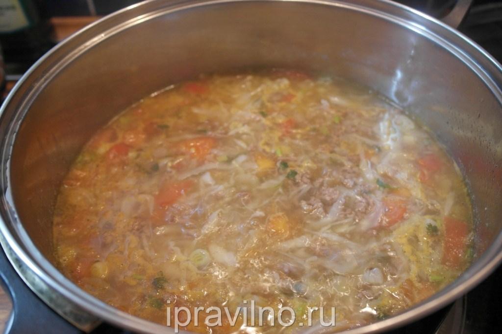 Суп с фаршем и капустой рецепт с пошагово