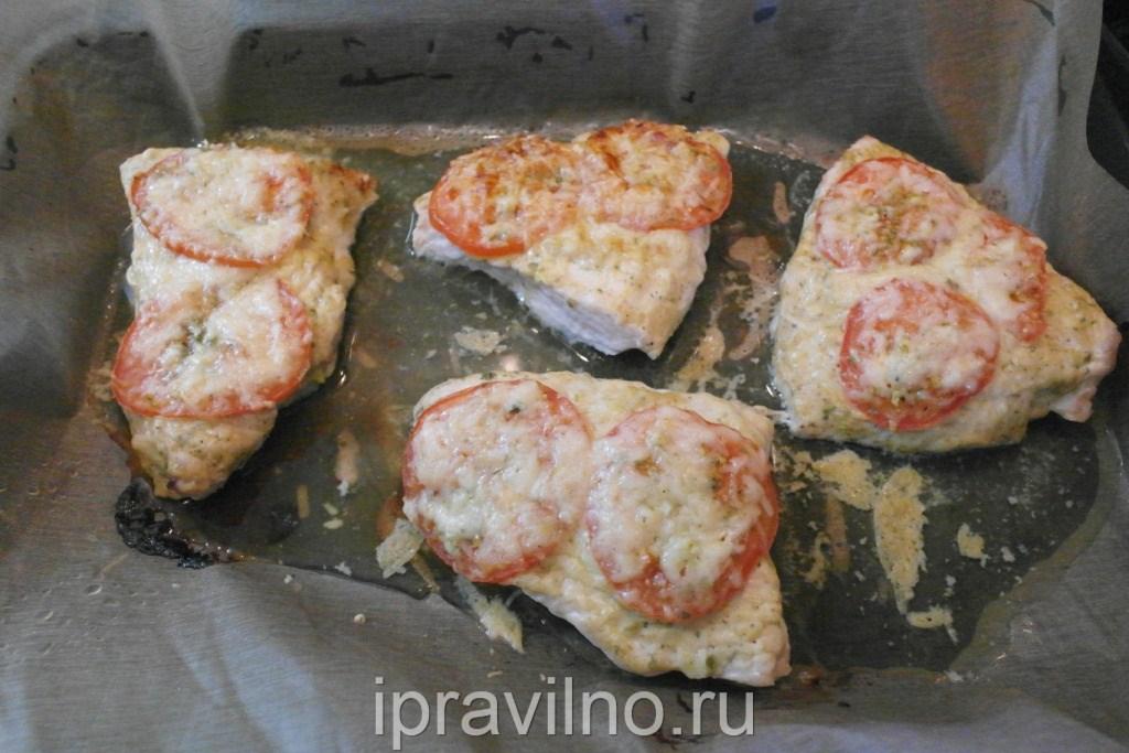 стейк в духовке под сыром в духовке