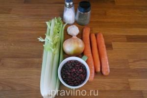 фасолевый суп с сельдереем