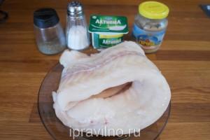 филе трески с йогуртово-горчичным соусом