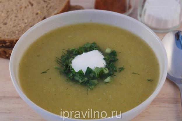 Кабачковый суп-пюре Вкусный суп из кабачков