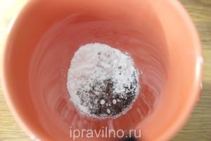 кофейно-молочный лед