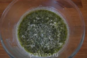 фрикадельки в мультиварке с соусом песто