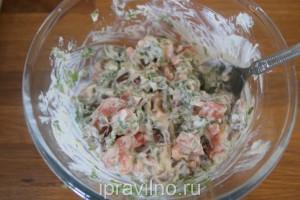 салат с кумато, рикоттой и сельдереем