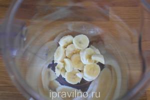 йогуртовое мороженое с бананом