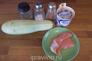 рулетики из кабачков с сыром и форелью
