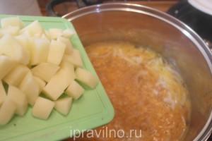 суп с консервированным тунцом