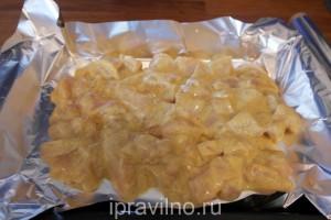 куриное филе в кефире с карри