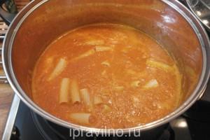 томатный суп с макаронами