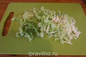 салат с куриным филе и шампиньонами