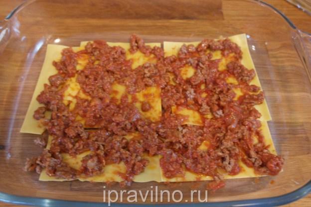 Лазанья со сметанным соусом