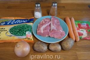 суп со свининой и стручковой фасолью
