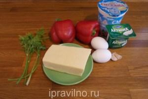 сладкий перец фаршированный сыром и яйцом
