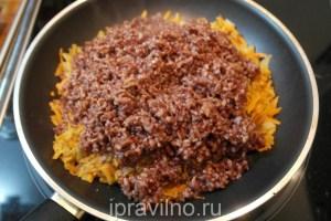кальмар фаршированный красным рисом