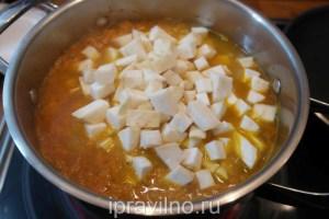 морковный суп-пюре с сельдереем