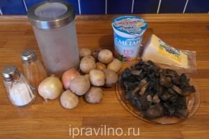 гречневая запеканка с картофелем и грибами