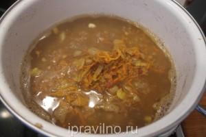 чечевичный суп с морковью и карри