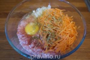 котлеты из индейки с морковью