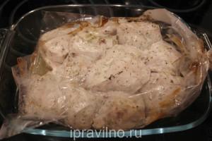 куриная грудка с йогуртом в рукаве