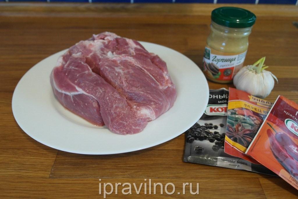 Буженина из свинины в горчице рецепт