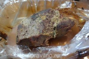 говядина с горчицей в рукаве